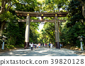 Torii leading to the Meiji Shrine complex 39820128