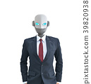 Robot wear a suit isolated,artificial intelligence 39820938