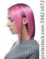 short pink woman 39821672