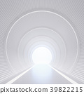 Modern white interior with tunnel space 3d render 39822215