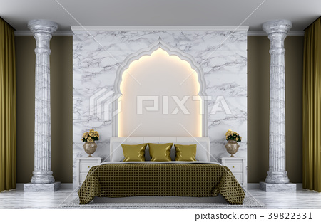 Luxury bedroom 3D render 39822331