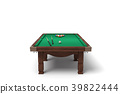 3d rendering of an isolated billiard table with a 39822444