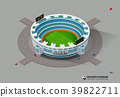stadium, isometric, football 39822711
