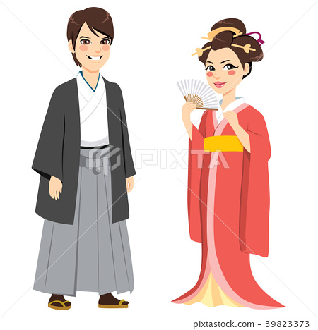 Japanese Traditional Couple 39823373