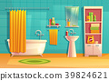 Vector bathroom interior, room with furniture 39824621