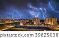 Lightnings Over Housing Estate 39825038