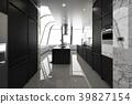 黑色 櫃台 計數器 39827154