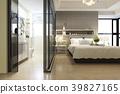 modern luxury bedroom suite and bathroom 39827165