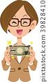 여성, 여자, 지폐 39828410