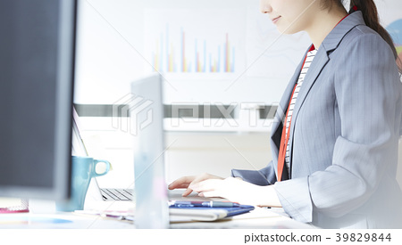 Business woman desk work 39829844