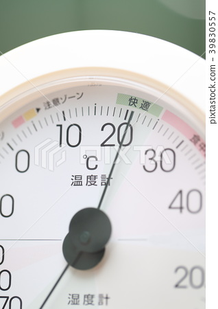 Hygrometer (observation scale thermometer measurement measurement temperature small goods miscellaneous goods lifestyle comfortable close up) 39830557