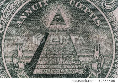 1 달러 지폐 피라미드 39834406