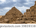 Egyptian pyramids in of Giza, Egypt 39839338