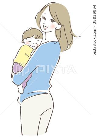 兒童和母親 39839994
