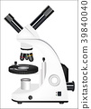 real microscope on a white background vector  39840040