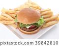 เบอร์เกอร์,ขนมปัง,อาหาร 39842810
