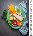 Italian food and menu concept.  39843375
