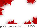 Canada day background design of red maple leaves 39843555