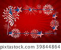 USA background design of america flag and firework 39844864