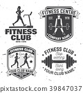 Set of fitness club badges. Vector. Concept for 39847037