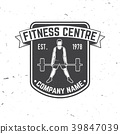 Fitness centre badge. Vector. For fitness centers 39847039