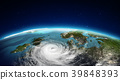 North Europe cyclone. 3d rendering 39848393