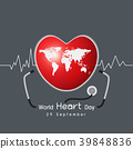 World heart day concept design 39848836