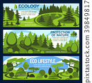 Nature protection banner for ecology conservation 39849817