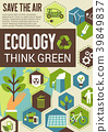 Think green eco banner for environment protection 39849837