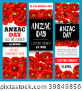 Poppy flower banner for Anzac Remembrance Day 39849856