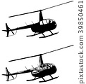 helicopter silhouette and sketch 39850461