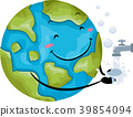 Mascot Globe Hand Wash Illustration 39854094