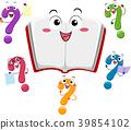 Mascot Question Mark Book Illustration 39854102