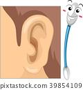Mascot Cotton Buds Ear Hygiene Illustration 39854109