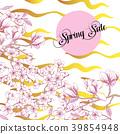 Spring Sakura and Magnolia Background 39854948