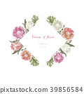 Vintage and luxurious floral vector greeting card  39856584