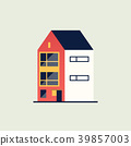 Family home. Modern house. 39857003