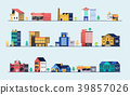 Set of city buildings. 39857026