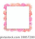 水彩画 水彩 花朵 39857280