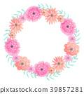 水彩画 水彩 花朵 39857281