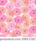 watercolor seamless flower 39857282