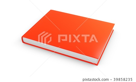 3D rendering red book on white background 39858235