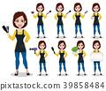 Hairdresser woman in professional uniform 39858484