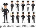 Police officer, policeman, set 39858487