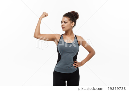 Healthy and Fitness concept - Portrait of young 39859728
