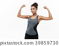 Healthy and Fitness concept - Portrait of young 39859730