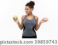 Healthy and diet concept - Beautiful sporty 39859743