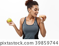 Healthy and diet concept - Beautiful sporty 39859744