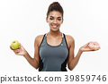 Healthy and diet concept - Beautiful sporty 39859746