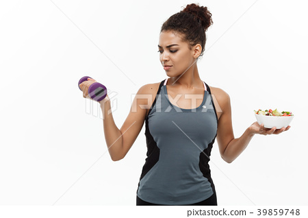 Healthy and Fitness concept - Beautiful sporty 39859748
